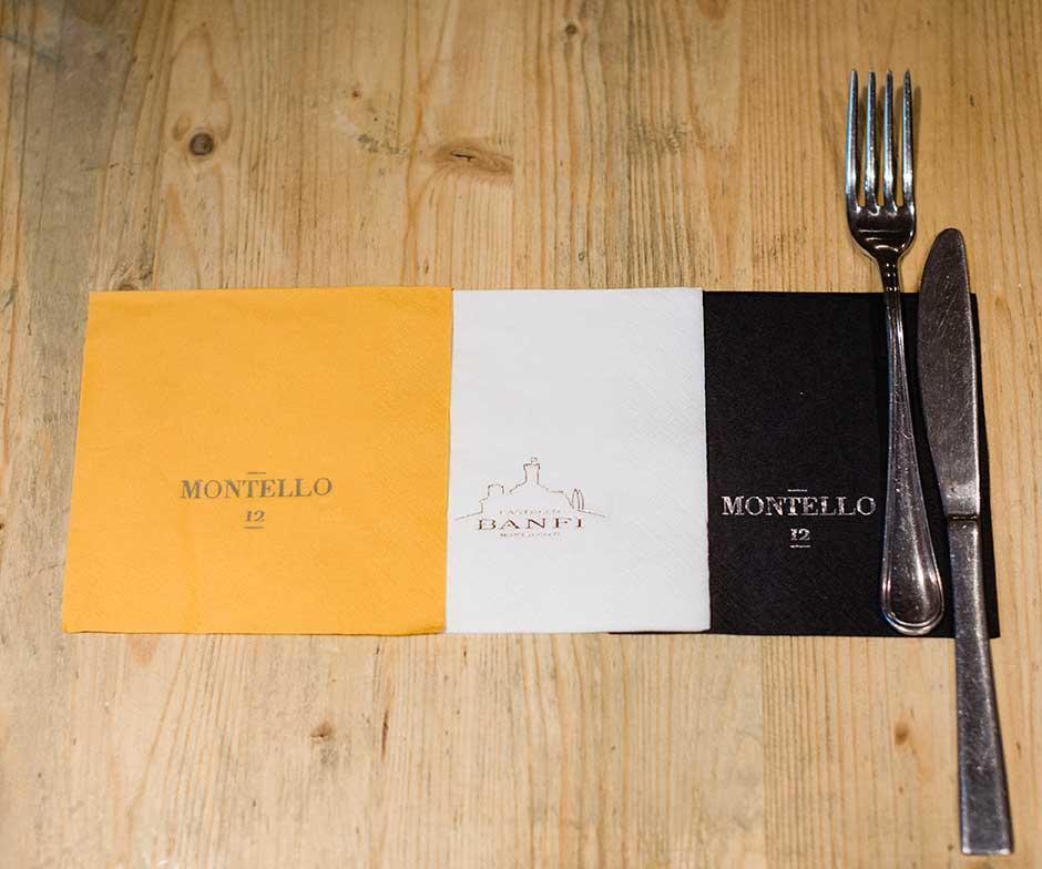 tovaglioli personalizzati ristorante